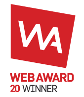 WEB AWARD 20 WINNER